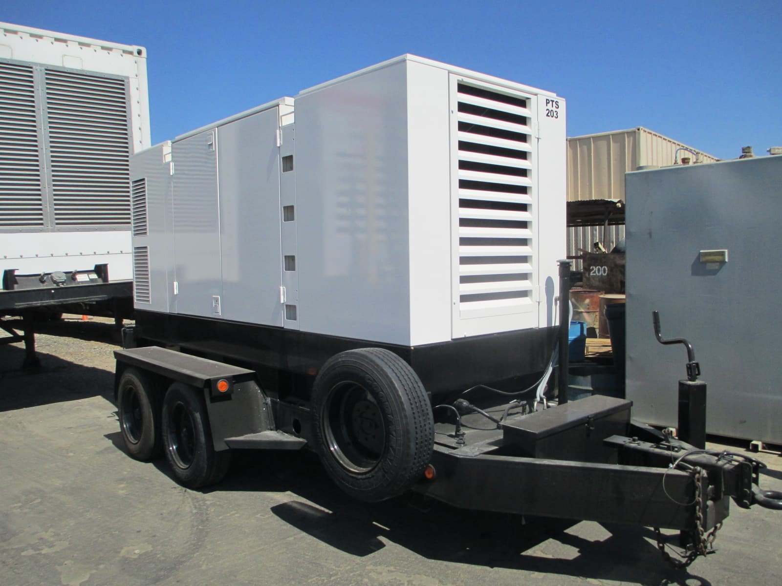 Used 300 kW Atlas Copco QAS338 Portable Diesel Rental Generator CARB Certified