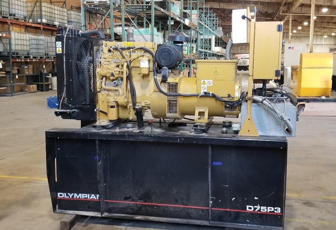 Used 75 kW Olympian Diesel Generator – JUST IN!